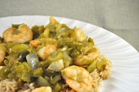 Green Shrimo Creole